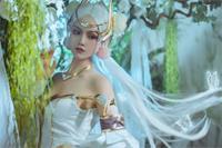王者荣耀美少女cos:金色·貂蝉仲夏夜之梦