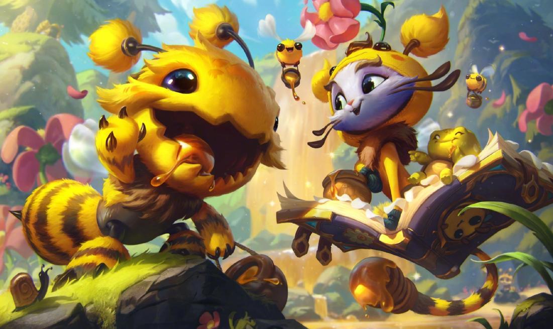 英雄联盟小蜜蜂系列皮肤:悠米、马尔扎哈、克格莫