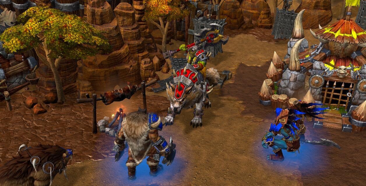 魔兽争霸3跑狼骑战术解读,最猥琐的战术之一