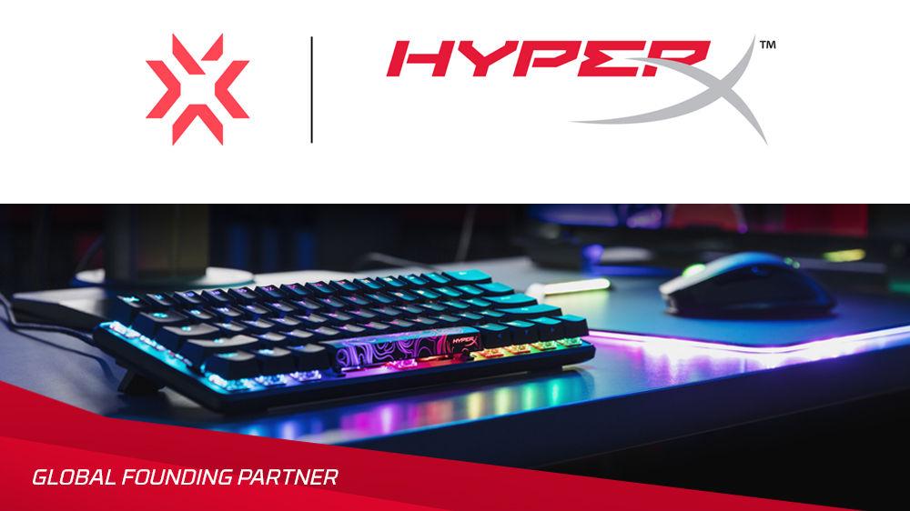 电竞商HyperX宣布成为《无畏契约》冠军巡迴赛官方全球合作伙伴